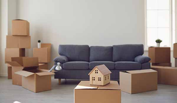 Moving Boxes to represent we buy any house service